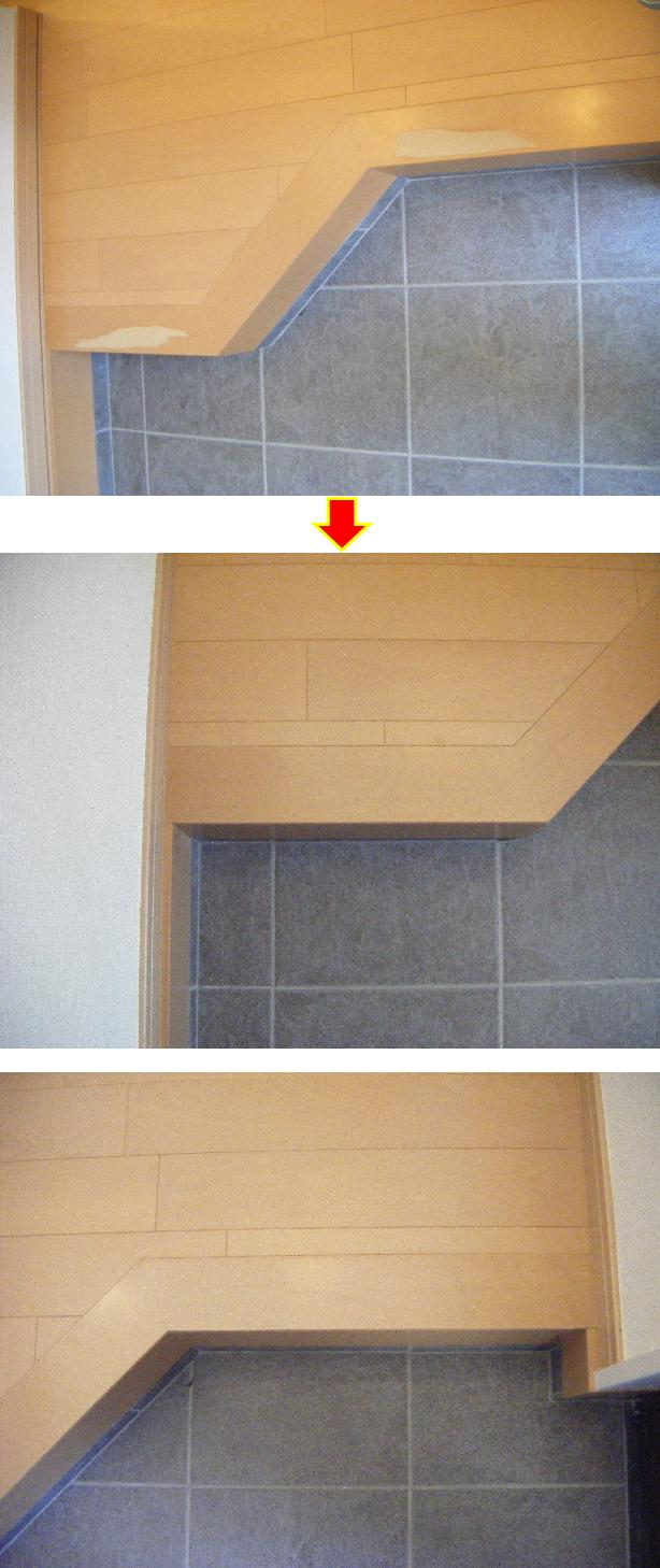 玄関框の補修