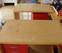 キズが付いた家具もきっちり補修