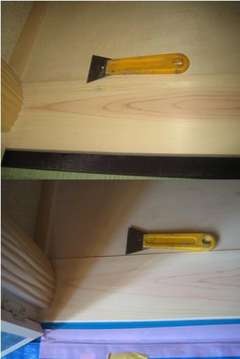 白木の単板張替え